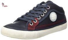Pepe Jeans Industry Basic, Baskets Basses Garçon, Bleu (590Ace Blue), 35 EU - Chaussures pepe jeans (*Partner-Link)