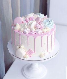 Candy Birthday Cakes, Beautiful Birthday Cakes, Birthday Cake Girls, Beautiful Cakes, Birthday Parties, Husband Birthday Cakes, Amazing Cakes, Funfetti Kuchen, Funfetti Cake
