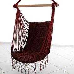 Rede Cadeira Poltrona De Balanço Descanso Suspensa - R$ 57,00