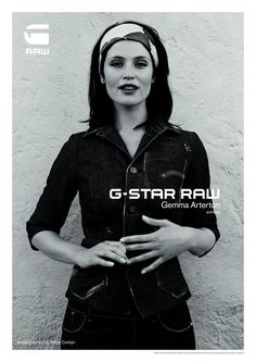 G Star S/S 2011 Gemma Arterton - Model Anton Corbijn - Photographer