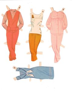 Our wonderful Paper Doll Friend Lorie has shared another wonderful paper doll! What would we do without her? This is Whitman's Slumber Party...