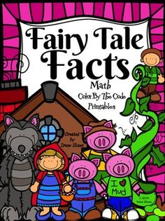 Fairy Tale Facts ~ Color By The Number Code Math Puzzles To Practice Number Recognition, Basic Addition and Basic Subtraction Skills~This Color By Number Unit Is Aligned To The CCSS. Each Page Has The Specific CCSS Listed.~This set includes 4 Fairy Tale themed math puzzles to practice math skills.