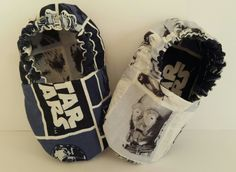 Star wars reversible baby booties  Etsy page: https://www.etsy.com/shop/ItsyBitsyBooties?ref=search_shop_redirect
