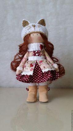 Купить Интерьерная кукла Лидочка - бежевый, интерьерная кукла, обувь для кукол, сапожки для кукол, тыквоголовка