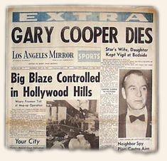 ゲイリー・クーパーの死