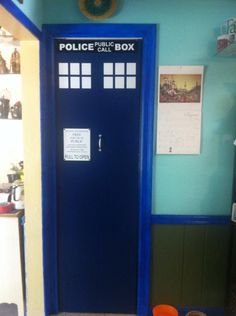 this is my pantry!!  custom tardis decal from https://www.facebook.com/RWVinyl?hc_location=stream