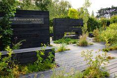 Contemporary garden with dark walls by KarlGercens.com GARDEN LECTURES, via Flickr