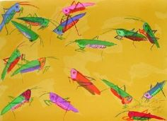 Walasse TING - Grasshoppers, 1982, Lithographie signée