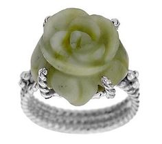 Artisan Crafted Sterling Connemara Marble Rose Ring