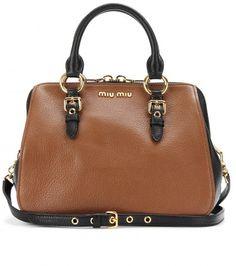 Miu Miu - TWO-TONE LEATHER TOTE - mytheresa.com GmbH   I like this more than the black!!