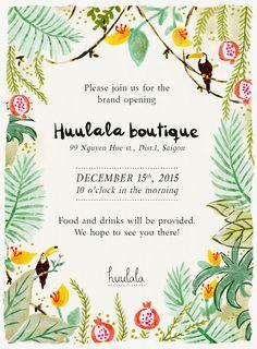 Huulala | grand opening invitation ©