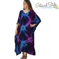 Plus size maxi kaftan. Tie-dye clothing http://islandstyleclothing.com.au/ladieswear/kaftans-maxi