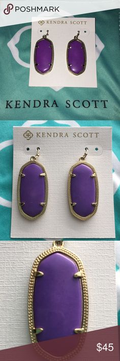 💯Auth Kendra Scott Elle Purple Earrings 💯Auth Kendra Scott Elle Purple Earrings - excellent condition- worn only a handful of times- these are priced to sell!  ⛔️NO TRADES OR PAYPAL⛔️🚨NO LOWBALL OFFERS🚨✨Willing to bundle so ask, ALL OFFERS DONE USING THE BUTTON ✨🎯REMEMBER POSH TAKES 20%🎯⚠️Ask all questions as sales are FINAL⚠️ Kendra Scott Jewelry Earrings