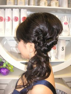 Updo to attend wedding by Marjorie Phun (side profile) | Yelp