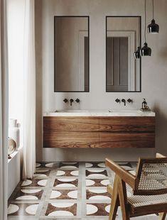 Bad Inspiration, Bathroom Inspiration, Interior Inspiration, Interior Ideas, Bathroom Renos, Bathroom Flooring, Small Bathroom, Warm Bathroom, Bathroom Ideas