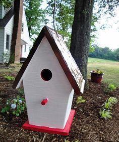 #DIY birdhouse - Make your own  Metal/aluminum ceiling tile for roof
