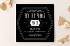 Entwine Rehearsal Dinner Invitations by Sarah Brown at minted.com
