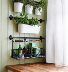 You can hang your herb garden for more counter space // Storage Solutions