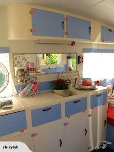 pink and white shabby chic rv - Google Search