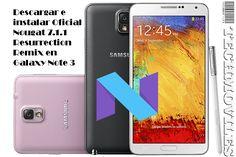 Descargar e instalar Oficial Nougat 7.1.1 Resurrection Remix en Galaxy Note 3