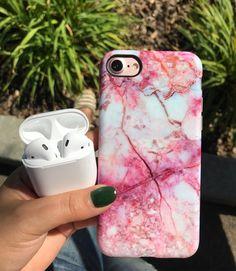 Marble Case for iPhone 8 Plus / 7 Plus - Pink Lava Iphone 8 Plus, Girly Phone Cases, Iphone Phone Cases, Iphone Seven Cases, Iphone Cases Disney, Capas Iphone 6, Telephone Samsung, Coque Ipad, Accessoires Iphone