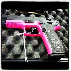 My Birthday present from my man. :) Pink & Black Sig Sauer!! #gun #pinkgun