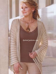Redheart free crochet pattern | very easy open front kimono-style cardigan