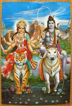 Lord Shiva and wife Durga Devi