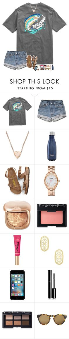 """""""Ella and Lydia's contest-- day three"""" by hopemarlee ❤ liked on Polyvore featuring Kendra Scott, S'well, Birkenstock, Kate Spade, NARS Cosmetics, Too Faced Cosmetics, OtterBox, Chanel, Illesteva and MAC Cosmetics"""