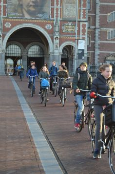 Morning rush hour, Rijksmuseum, central Amsterdam