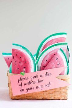 Sweet Watermelon Party Favor   10 Scrumptious Watermelon DIY's - Tinyme Blog