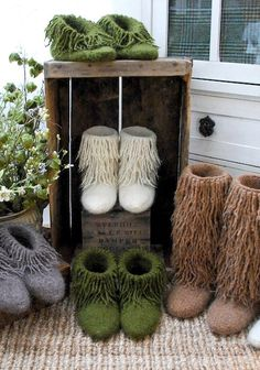 Knitting Pattern Moonkoosa Boots - #ad Felted fringy kicks in mini, short, mid and tall styles. Adult and child sizes. More pics on Etsy.  fringe