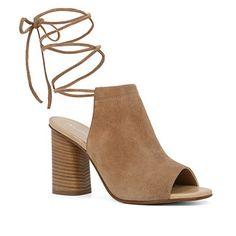 Rock these multi-strap wrap booties this fall.
