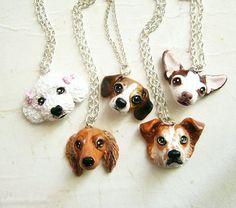 Benutzerdefinierte Hund Kette oder Brosche, Pet-Porträt, Haustier Schmuck-Preis für eine benutzerdefinierte Halskette-