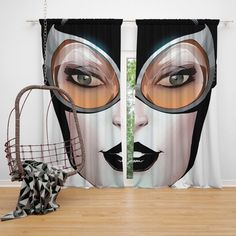 Buy Catwoman Theme DC Comics Curtain For Bedroom, Living Room Window Online. Browse Super Hero Theme Blackout Curtains and Drapes, Window Treatment Panels. Blackout Curtains, Drapes Curtains, Catwoman Cosplay, Living Room Windows, Dc Comics, Superhero, Cosplay Ideas, High Definition, Bedding