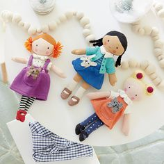 Shop Knit Crowd Toddler Doll Blonde.  One doll's a pal.  Two is company.  And three's a crowd.  Especially when they're these super soft, hand knit dolls with stylish outfits and pets.  Plus, they're perfectly sized for toddlers, too.