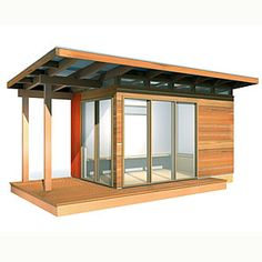 DIY cabin in the woods | Cozy, well priced prefab | Sunset.com.  We could build this for less!