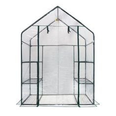 OGrow Deluxe Walk-In 3 Tier 6 Shelf Portable Greenhouse Any garden can accommodate this Ogrow H x W x D Mini Walk-In Greenhouse with a total of 6