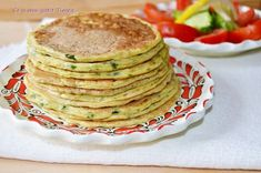 Pancakes cu dovlecel Pancakes, Meals, Dinner, Breakfast, Tortillas, Cooking Ideas, Food, Fine Dining, Dining