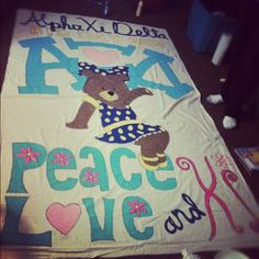 Our bid day banner made it to pinterest :D