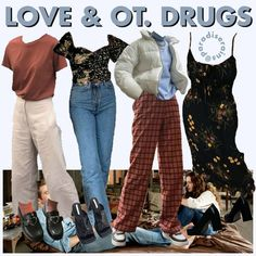 Hipster School Outfits, 70s Outfits, Hippie Outfits, Cool Outfits, Fashion Outfits, Vintage Outfits, Aesthetic Fashion, Aesthetic Clothes, Fashion Themes