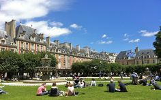 Place des Vosges, just a photo I took while eating lunch