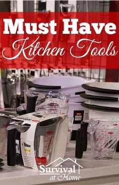 Must Have Kitchen Tools You might not need a panini press, hibachi grill or that $400 blender, but there are certain kitchen tools everyone needs. Do not overlook these must-haves. #kitchentools #castiron #chefknife