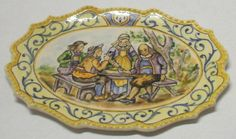 "Quimper Tray ""au cafe"" by Dominique Levy"