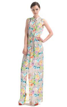 Floor Length Shirt Dress by Matthew Williamson - Moda Operandi