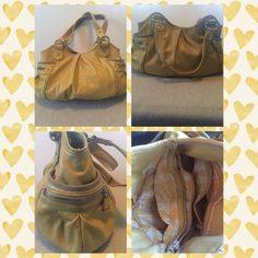 Yellow Nine West bag. Like New! Super cute side zipper pockets. Roomy with compartments on the inside and magnetic closure. Nine West Bags Shoulder Bags