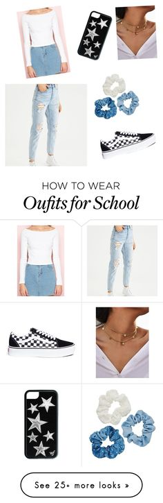 """School outfit"" by lnguyen6725 on Polyvore featuring American Eagle Outfitters, Vans and Mudd"
