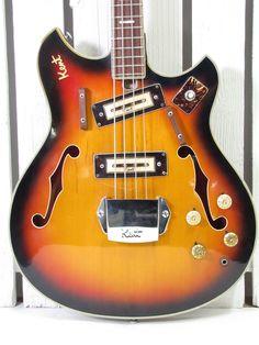 VINTAGE 1960'S KENT MODEL 822 ELECTRIC BASS GUITAR MADE IN JAPAN | eBay