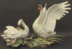 Boehm Birds: Mute Swan - Pair