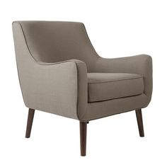 Featuring mid-century-inspired curves this Nathan Mid-Century Accent Chair in a textured gray adds a soft contrast to a clean-lined upholstered room. Accent Chairs Gray Accent Chairs - My Home Decor Grey Accent Chair, Grey Chair, Accent Chairs, Chair And Ottoman, Upholstered Chairs, Chair Cushions, Arm Chairs, Dining Chairs, Grey Furniture